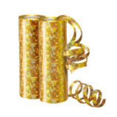 Серпантин фольгированный голография золотой 4м/2шт 36 колец