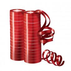 Серпантин фольгированный металл красный 4м/2шт 36 колец