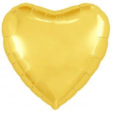 Шар (18''/46 см) Сердце, Светлое золото, 1 шт. Agura