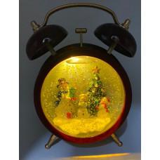 """Новогоднее украшение """"Будильник"""" светящийся музыкальный 20см."""