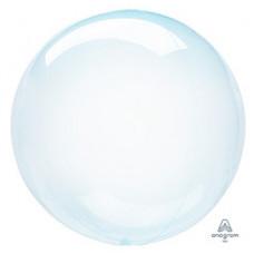 Шар (18''/46 см) Bubble, Кристалл Blue, 1 шт. Anagram
