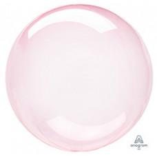 Шар (18''/46 см) Bubble, Кристалл Dark Pink, 1 шт. Anagram