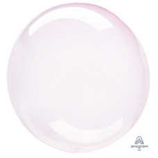 Шар (18''/46 см) Bubble, Кристалл Light Pink, 1 шт. Anagram