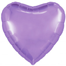 Шар (18''/46 см) Сердце, Сиреневый, 1 шт. Agura