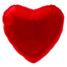 Шар (18''/46 см) Сердце, Красный, 1 шт. Agura