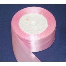 Лента атласная 4см*25ярд розовый