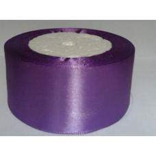 Лента атласная 4см*25ярд фиолетовый