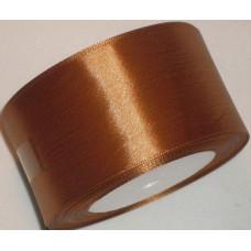 Лента атласная 4см*25ярд коричневый