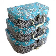 Набор коробок прямоуг. из 3 чемоданов 27.8x20x9.6-22.8x15.5x7.6