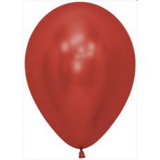Шар (12''/30 см) Reflex, Зеркальный блеск, Красный (915), хром, 50 шт. Sempertex