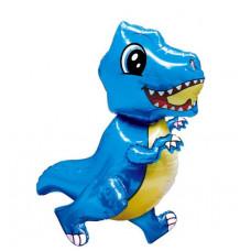 Шар (30''/76 см) Ходячая Фигура, Маленький динозавр, Синий, в упаковке 1 шт. Falali
