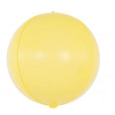 Шар (24''/61 см) Сфера 3D, Макарунс, Желтый, 1 шт. Falali