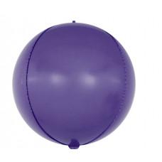 Шар (24''/61 см) Сфера 3D, Макарунс, Фиолетовый, 1 шт. Falali
