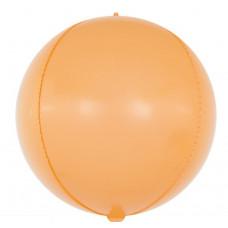 Шар (24''/61 см) Сфера 3D, Макарунс, Оранжевый, 1 шт. Falali