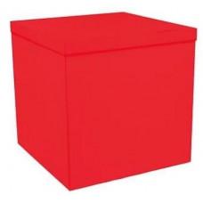 Коробка для воздушных шаров, Красный, 70*70*70 см, 1 шт