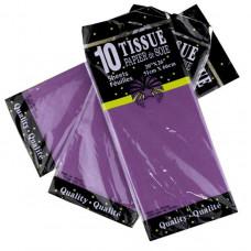 Бумага тишью 51*66см Фиолетовый в листах 10листов/уп.