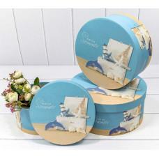 Набор коробок Круг, Hello summer, 25,5*11,5 см, 3 шт.