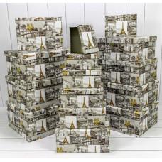 Набор коробок Виды Парижа, 42,5*33*17,6 см, 15 шт.