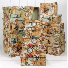 Набор коробок Почтовые открытки, 42,5*33*17,6 см, 15 шт.
