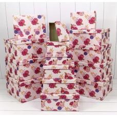 Набор коробок Яркие цветы, 42,5*33*17,6 см, 15 шт.