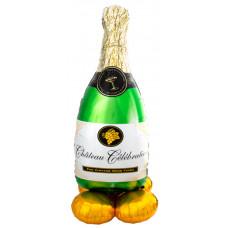 Шар (52''/132 см) Ходячая Фигура, Бутылка Шампанское, 1 шт. в упак. Anagram