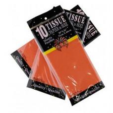 Бумага тишью 51*66см Оранжевый в листах 10листов/уп.
