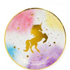 Тарелки (9''/23 см) Звездный Единорог, 6 шт. Дон Баллон