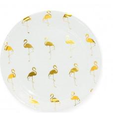 Тарелки (7''/18 см) Золотой фламинго, Белый, 6 шт. Дон Баллон