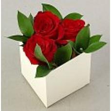 Флобокс для цветов 10*10*10см крафт