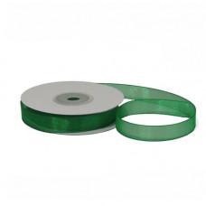 Лента органза 1.2см*22.85м зелёный