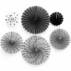 Набор декоративных дисков 6шт чёрный/белый Весёлый Праздник