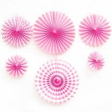 Набор дисков Микс дизайнов, Розовый, 40 см, 6 шт.