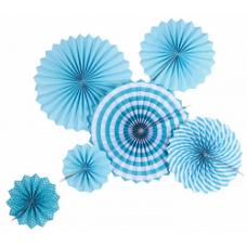 Набор декоративных дисков 6шт голубой микс Весёлый Праздник