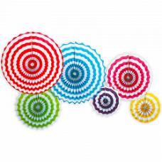 Набор дисков Белые полоски, Ассорти, 40 см, 6 шт.