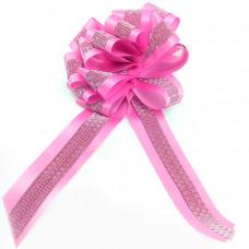 "Бант-шар PP с глиттером 45мм ""Комбо"" розовый 10шт"