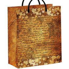 """Пакет мягк. пластик вертик 26*24*14см """"Осеннее письмо"""""""