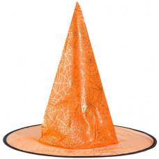 Карнавальная шляпа, Ведьма Паутина оранжевая, 1 шт.