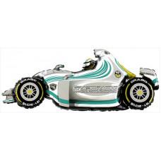 Шар (49''/124 см) Фигура, Гоночный автомобиль, Серый, 1 шт. Grabo