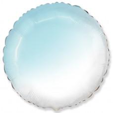 Шар (18''/46 см) Круг, Голубой, Градиент, 1 шт. Flexmetal