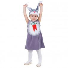 "Карн. костюм ""Зайка с грудкой"" сарафан.шапка 1,5-3г 98см"