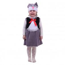 """Карн. костюм """"Кошечка"""" сарафан.шапка 1,5-3г 98см"""