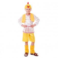 """Карн. костюм """"Цыплёнок"""" рубашка.шорты.жилет.унты.шапка р.56 размер 104см"""